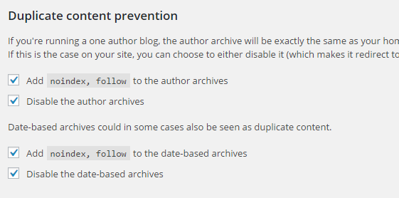 prevent duplicate content wordpress