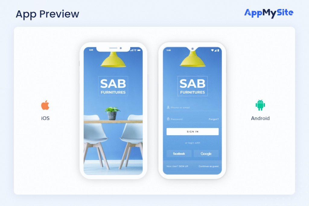 preview mobile app wordpress